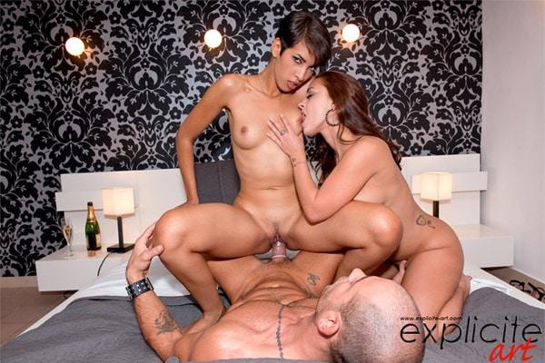 Jasmine Arabia et Liza Del Sierra plan à 3 anal